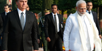 (Nova Delhi - Índia, 26/01/2020) Presidente da República Jair Bolsonaro, durante Cerimônia de Apresentação de Altos Dignitários.rFoto: Alan Santos/PR