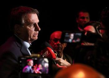 (São Paulo - SP, 03/02/2020) Presidente da República Jair Bolsonaro, fala com jornalistas da Band.rFoto: Isac Nóbrega/PR