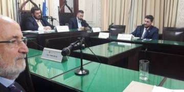 Alerj sabatina Bernardo Pegoraro Sarreta, indicado pelo governo Wilson Witzel para a a diretoria da Agenersa. Foto: Julia Passos/Alerj
