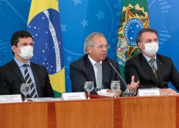 (Brasília - DF, 18/03/2020) Coletiva à Imprensa do Presidente da República, Jair Bolsonaro e Ministros de Estado. Foto: Carolina Antunes/PR