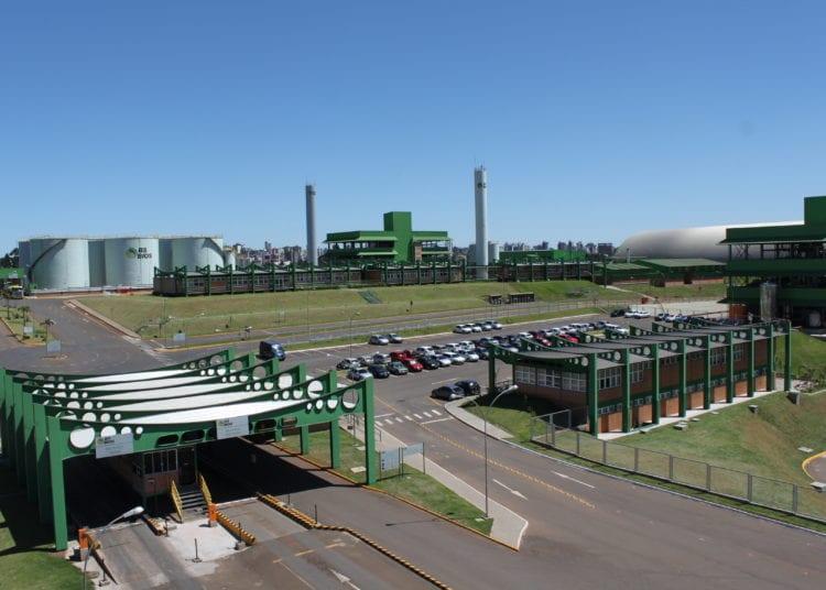 Usina de biodiesel da BSBios em Passo Fundo (RS), capaz de processar 158 mil toneladas de óleo de soja e produzir 216 milhões de litros de biodiesel por ano (BSBios)
