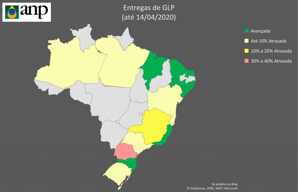 Entregas de GLP pela Petrobras (ANP)