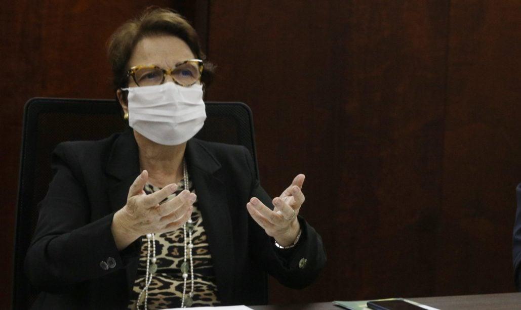 Ministra Tereza Cristina participa da Videoconferência com Secretários Estaduais de Meio Ambiente. Foto por Carlos SIlva (MAPA)